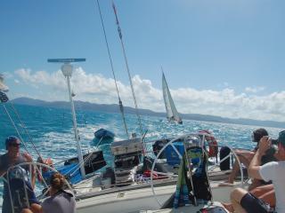 Boomerang - Sailing Looking Back from Stern